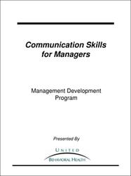 Communication Skills for Manager